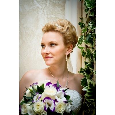Свадебная прическа на очень короткие волосы
