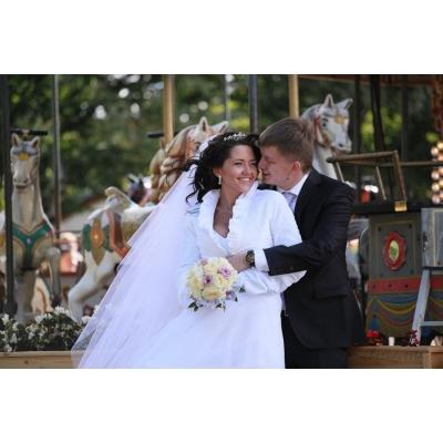 Свадебный образ с диадемой