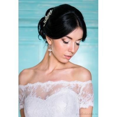 Свадебная прическа с собранными волосами